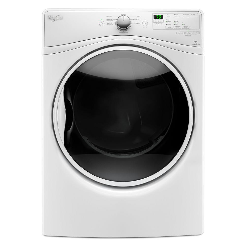Whirlpool 7.4 cu. ft. 120 Volt Stackable White Gas Vented Dryer ...