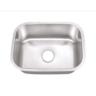 Undermount Stainless Steel 24 in. 0-Hole Single Bowl Kitchen Sink