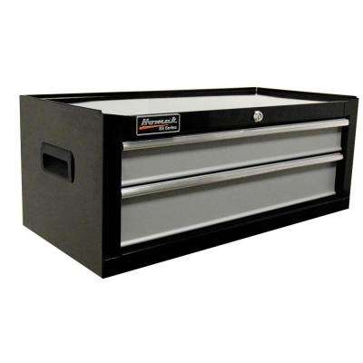 SE Series 27 in. 2-Drawer Mid Chest, Black and Gray