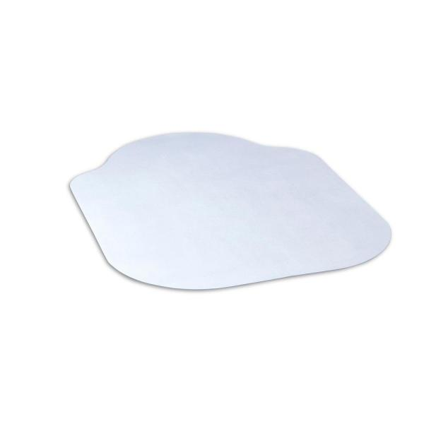 Evolve Modern Shape 33 in. x 44 in. Clear Office Chair Mat with Lip for Hard Floors
