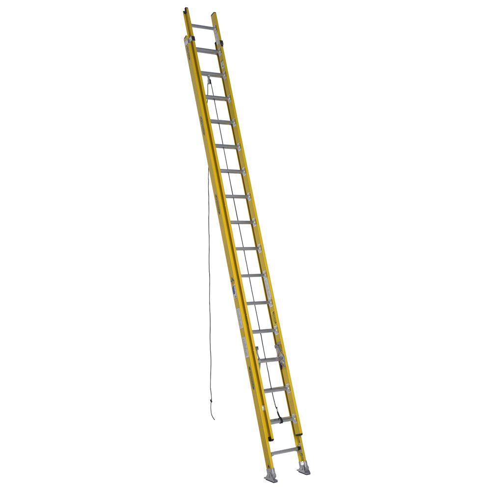 Werner 32 ft. Fiberglass Round Rung Extension Ladder with 375 lb. Load Capacity Type IAA Duty Rating