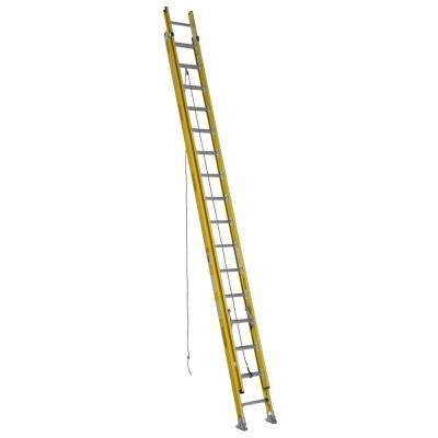 32 ft. Fiberglass Round Rung Extension Ladder with 375 lb. Load Capacity Type IAA Duty Rating