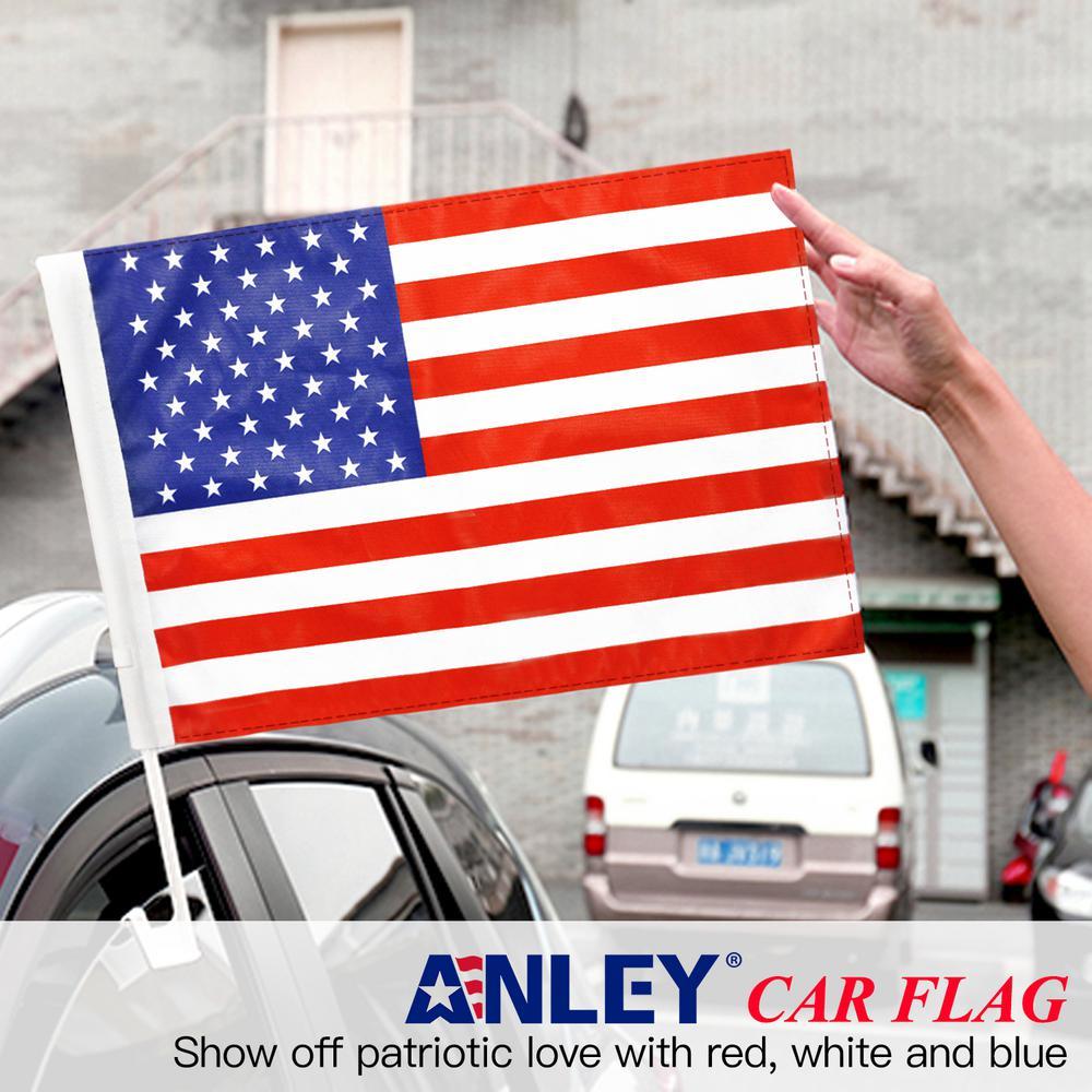 4 Pack US Flag American Patriotic Car Window Clip USA Flag 19 x 11