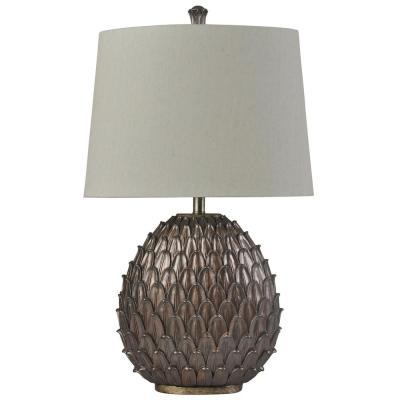Surrey 32 in. Bronze, Weathered Brass Table Lamp
