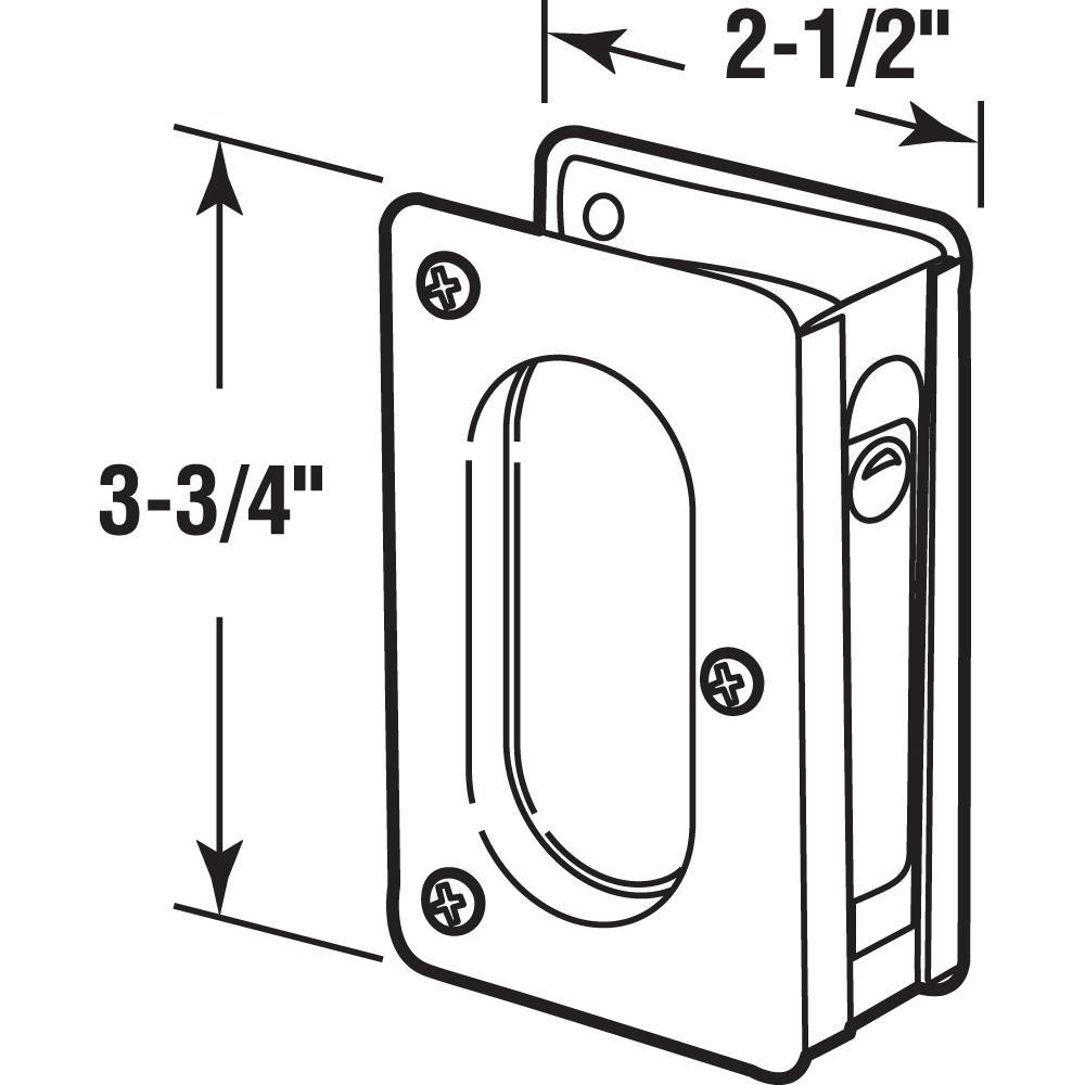 """Prime-Line 3-3//4/"""" Classic Bronze Pocket Door Passage Pull  N 7364 *"""
