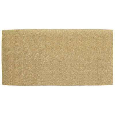No Border 36 in. x 72 in. Heavy Duty Coir Plain Door Mat