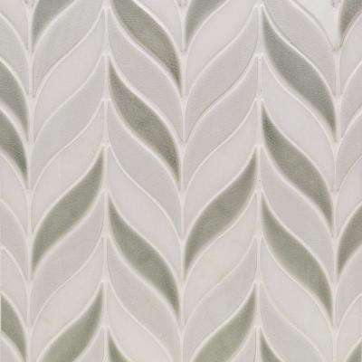 Oracle Sprig Tundra 11-3/4 in. x 10-1/2 in. x 10mm Glazed Ceramic Mosaic Tile