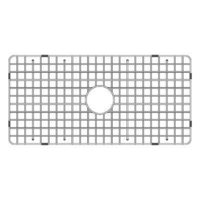 33.5 in. Fireclay Grid for Undermount Single Bowl Sink in Stainless Steel