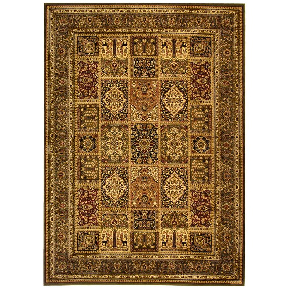Lyndhurst Multi/Green 6 ft. x 9 ft. Area Rug