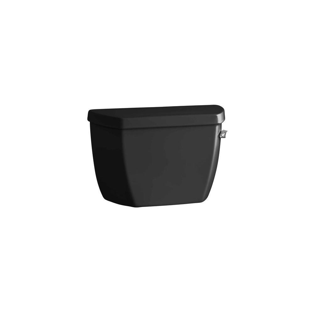 KOHLER Highline 1.6 GPF Single Flush Toilet Tank Only in Black
