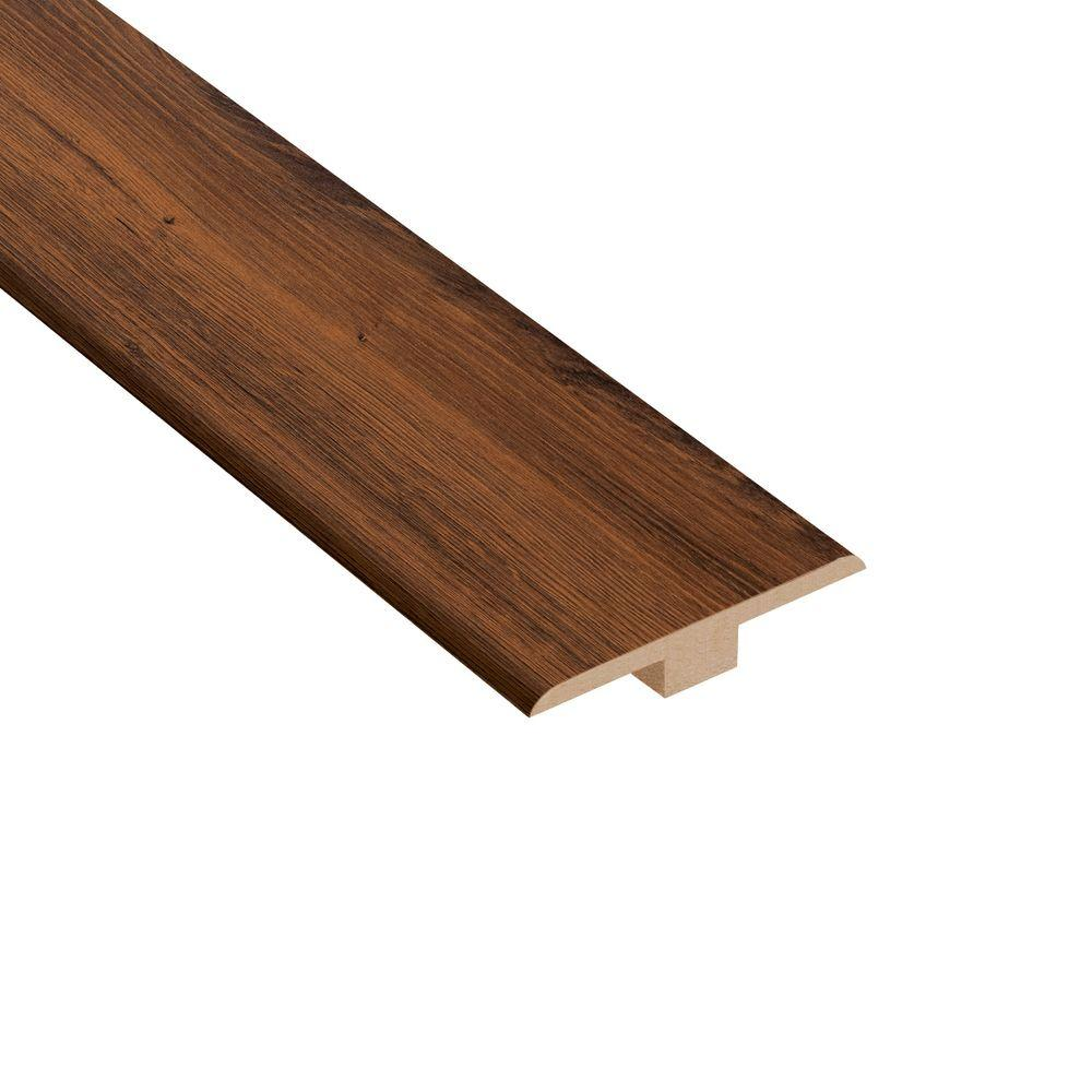 Home Legend Carmel Canyon Oak 1/4 in. Thick x 1-7/16 in. Wide x 94 in. Length Laminate T-Molding