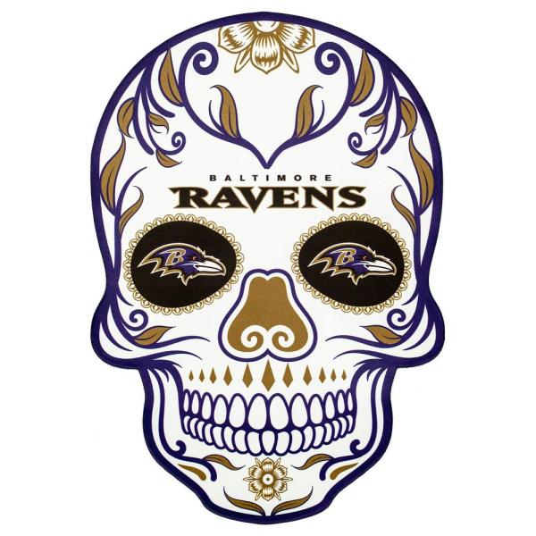Applied Icon Nfl Baltimore Ravens Outdoor Skull Graphic