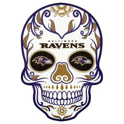 NFL Baltimore Ravens Outdoor Skull Graphic- Small