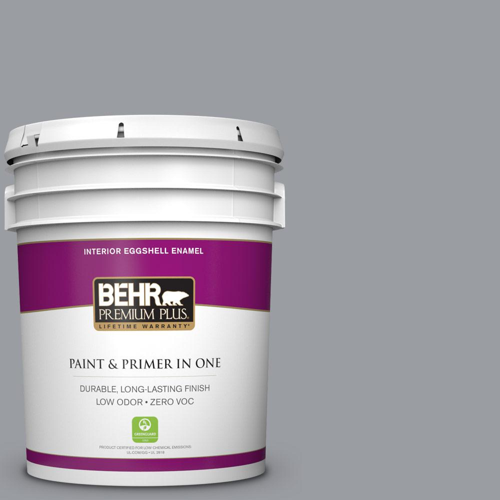 BEHR Premium Plus 5-gal. #760F-4 Down Pour Zero VOC Eggshell Enamel Interior Paint