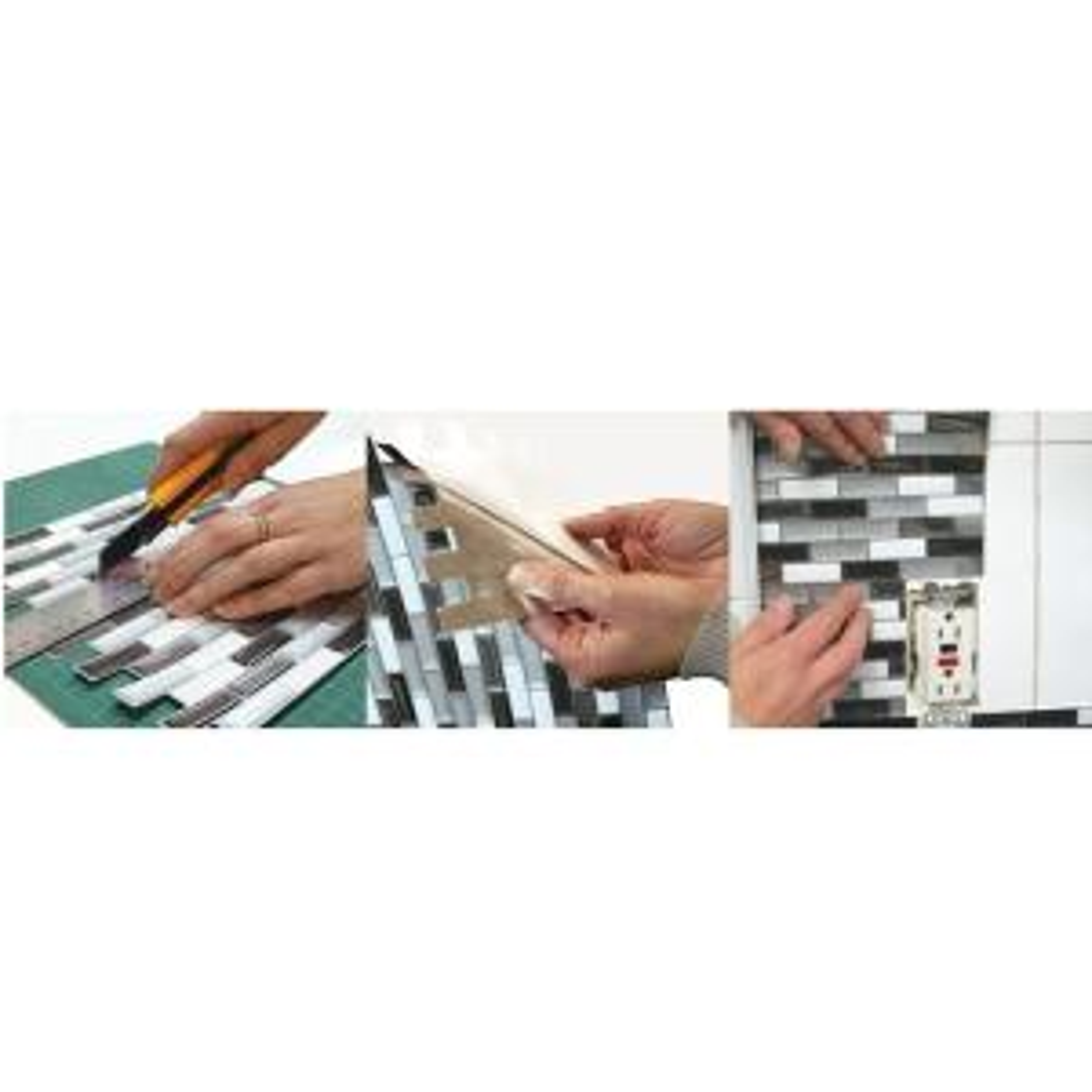 Smart Tiles-Muretto Durango Beige 10.20 in. W x 9.10 in. H Peel and Stick Self-Adhesive Decorative Mosaic Wall Tile Backsplash