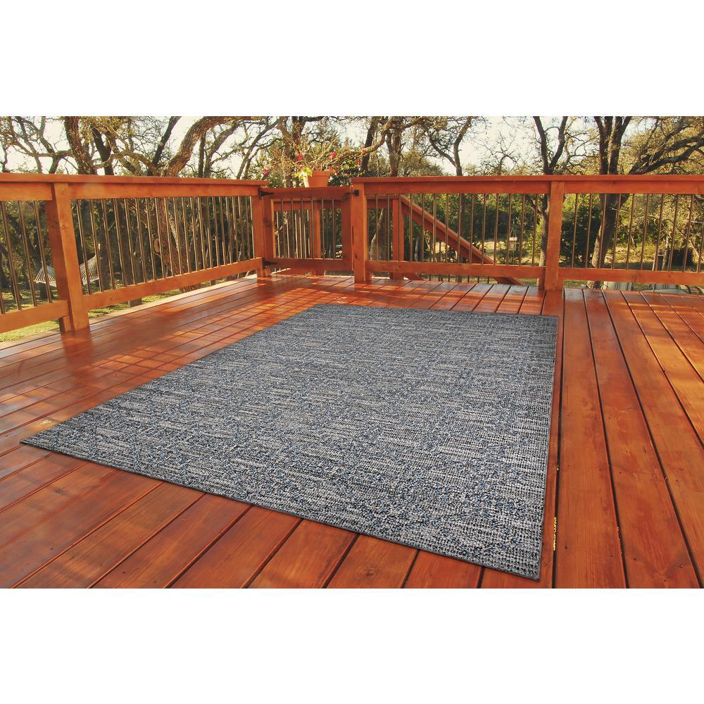 Fresco Garden Twine Rainstorm Gray 8 ft. x 10 ft. Indoor/Outdoor Area Rug