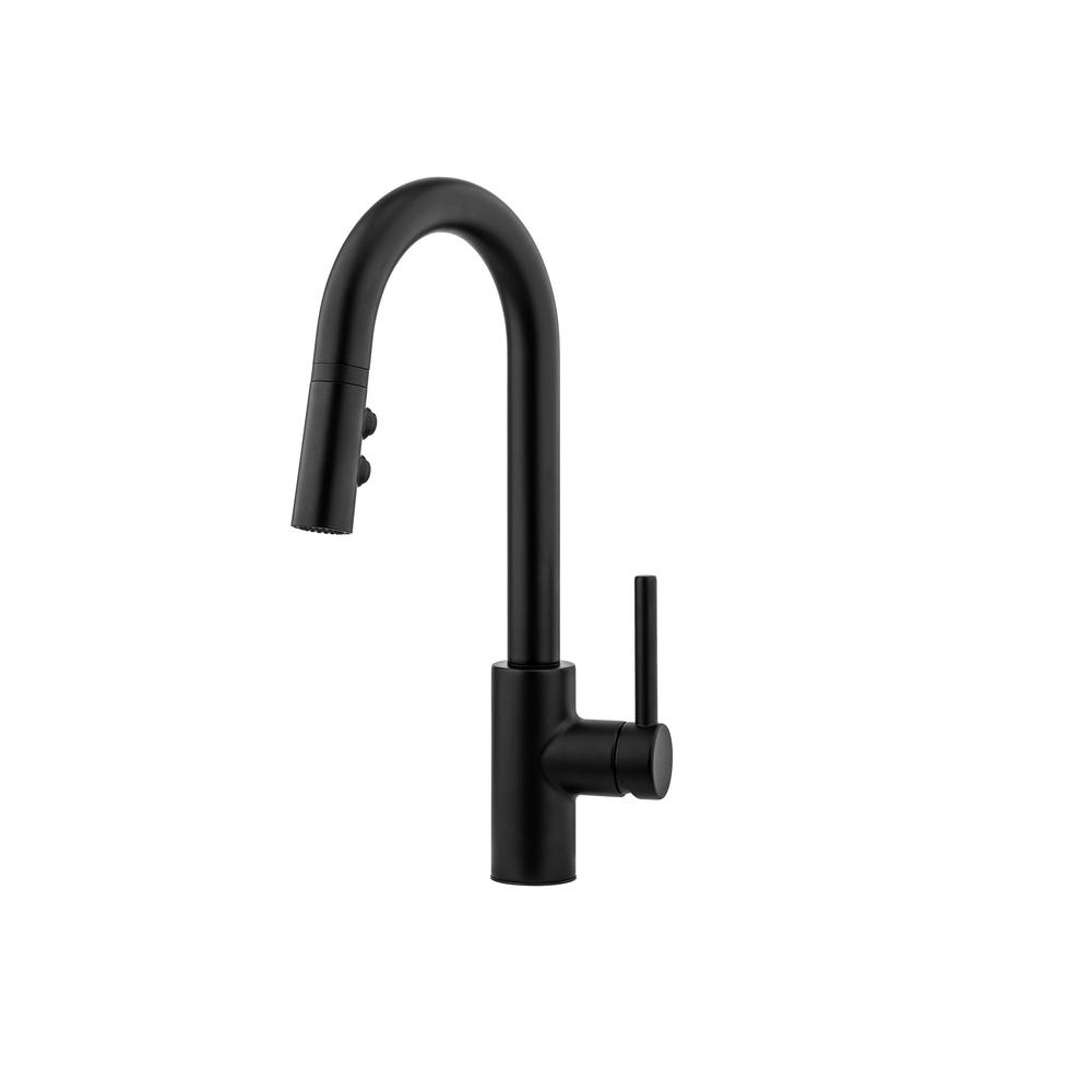 Pfister Stellen Single Handle Pull Down Sprayer Kitchen Faucet In