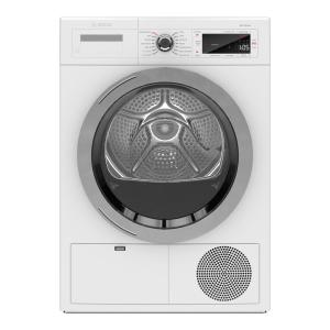 800 Series 4 cu. ft. 240-Volt Home Connect White Stackable Electric Ventless Compact Dryer, ENERGY STAR