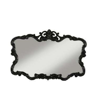 Aureate High Gloss Black Wall Mirror