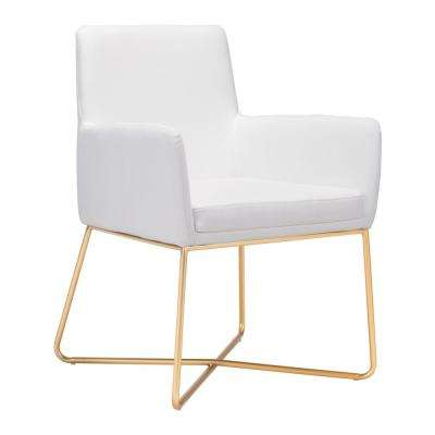 Honoria White Arm Chair