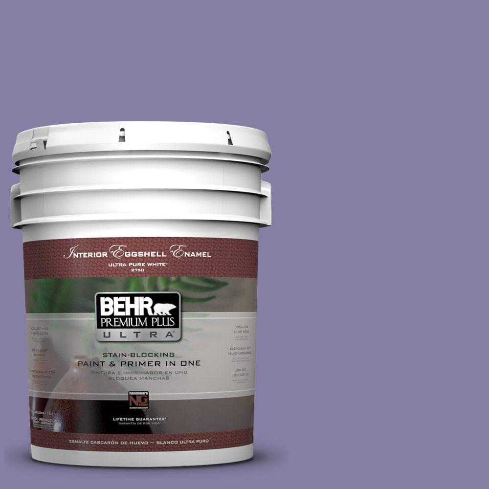 5 gal. #640D-6 Chinese Violet Eggshell Enamel Interior Paint and Primer