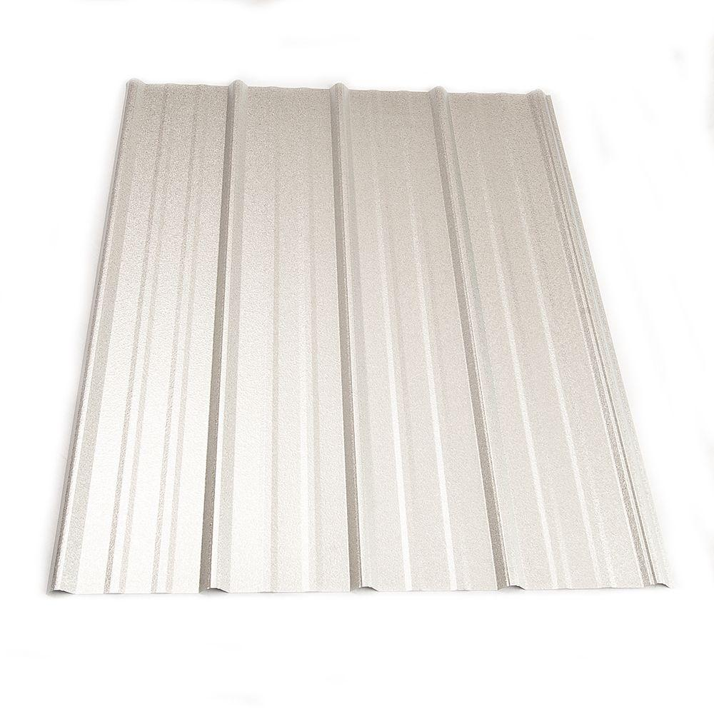 Metal Sales 10 ft. Classic Rib Steel Roof Panel in Galvalume-2313341 ...