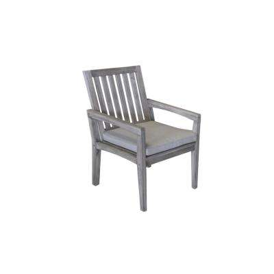 Surf Side Collection Teak Outdoor Dining Chair with Sand Cushions