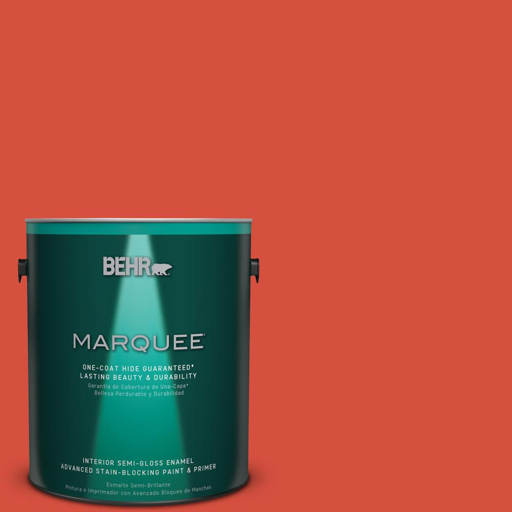 1 gal. #T18-12 Spirit Warrior Semi-Gloss Enamel Interior Paint