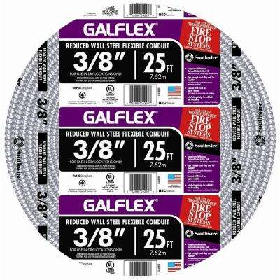 3/8 in. x 25 ft. Galflex RWS Metallic Armored Steel Flexible Conduit