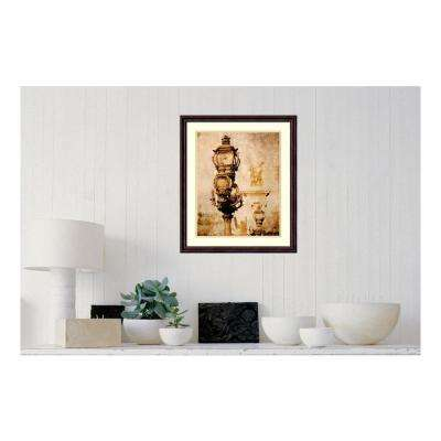 19.88 in. W x 23.50 in. H Parisian Street Lamps by Anon Printed Framed Wall Art