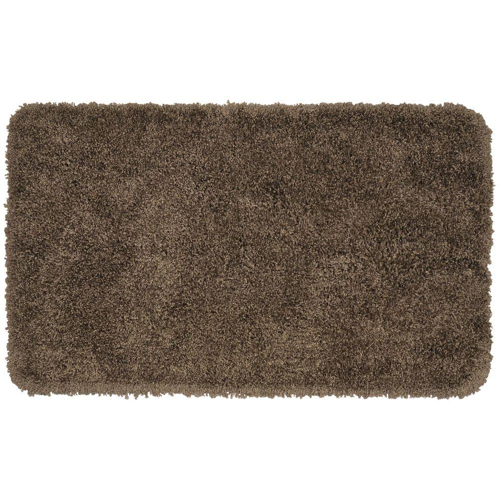Serendipity Chocolate (Brown) 30 in. x 50 in. Washable Bathroom Accent Rug