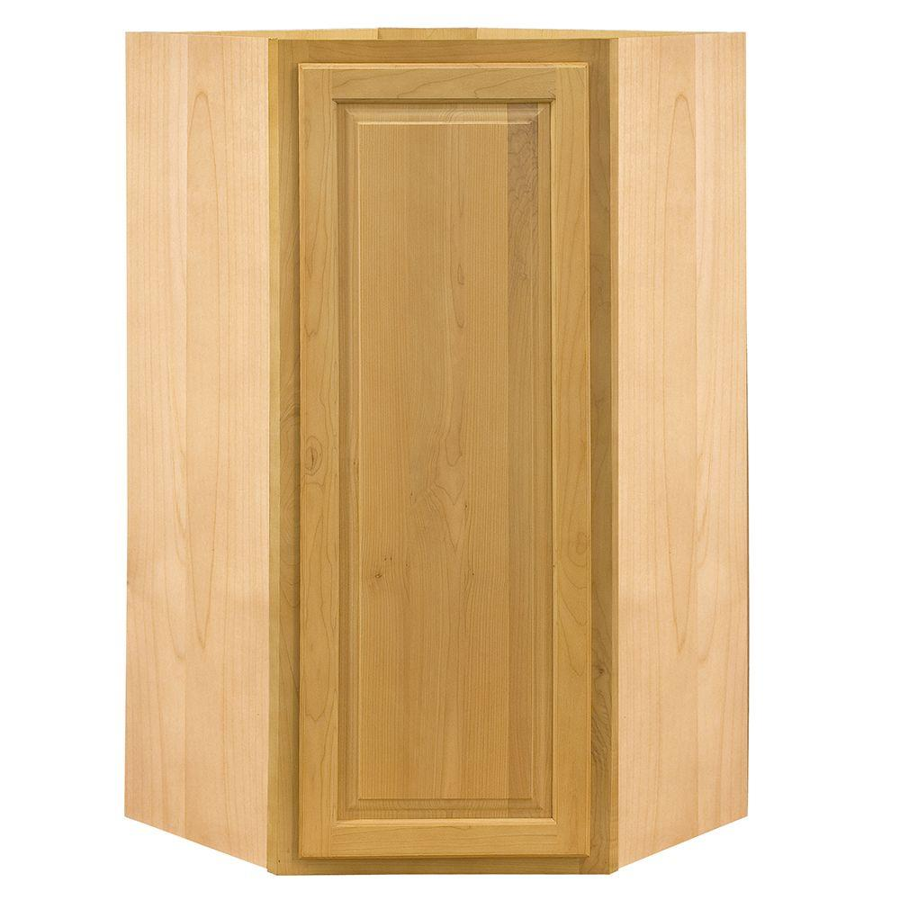 Home Decorators Collection Assembled 24x42x24 in. Wall Angle Corner Cabinet in Vista Honey Spice