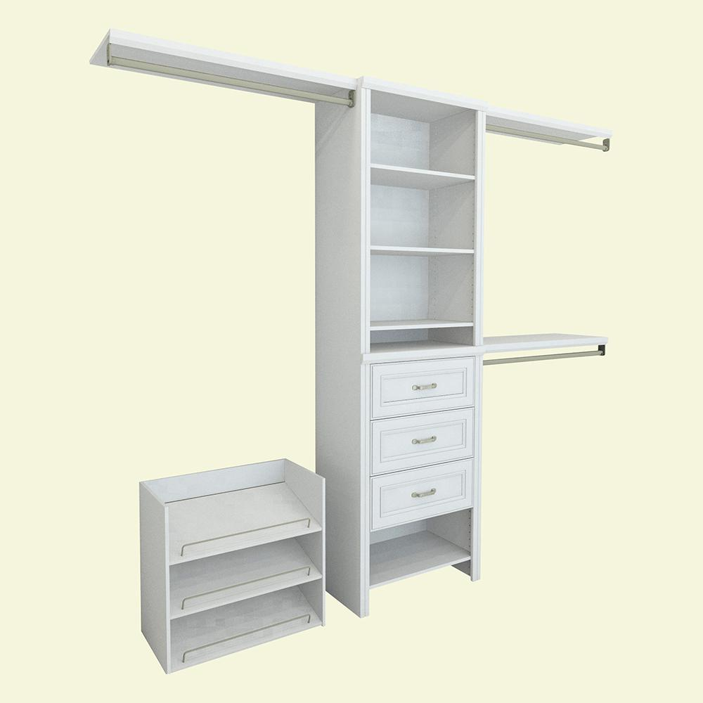 shelving pine closet white drawers storage with wood walk for organizer units corner in fashionable of