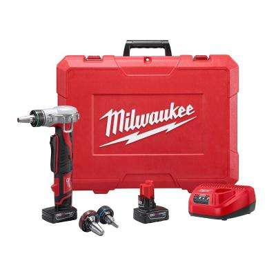 M12 12-Volt Lithium-Ion Cordless ProPEX Expansion Tool Kit with Two 3.0 Ah Batteries, 3 Expansion Heads and Hard Case