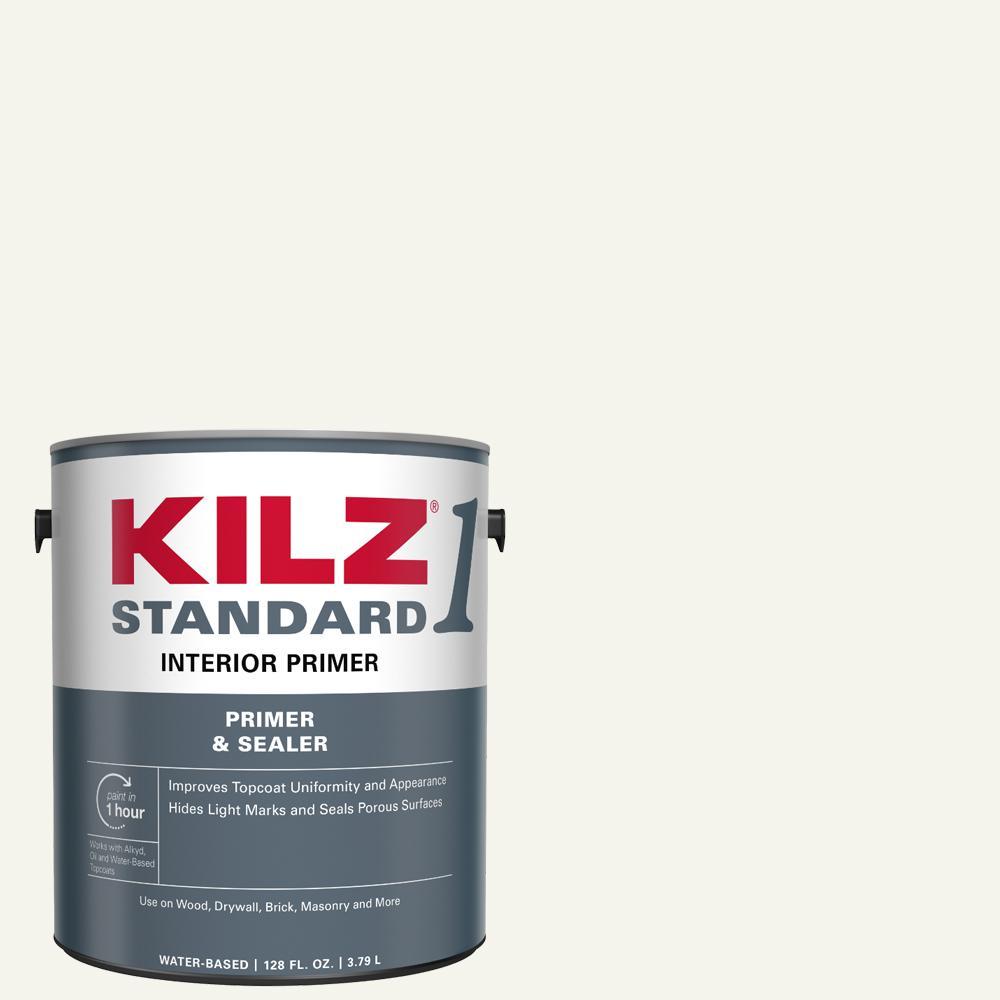Kilz Standard 1 Gal White Water Based Interior Primer And Sealer L201101 The Home Depot