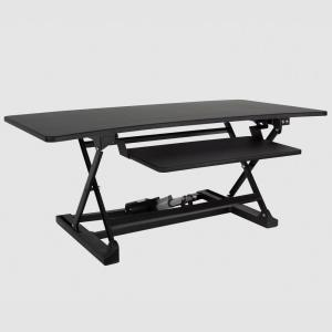 Deals on Lifesmart 48 in. Black Power Desktop Sit to Stand Desk