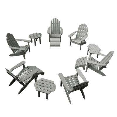 Classic Wesport Coastal Teak 12-Piece Plastic Patio Fire Pit Seating Set