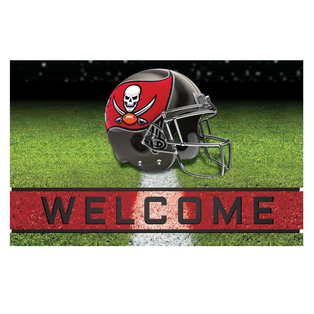 FANMATS NFL - Tampa Bay Buccaneers 18 in. x 30 in. Rubber Door Mat ... 43e7f9398cd