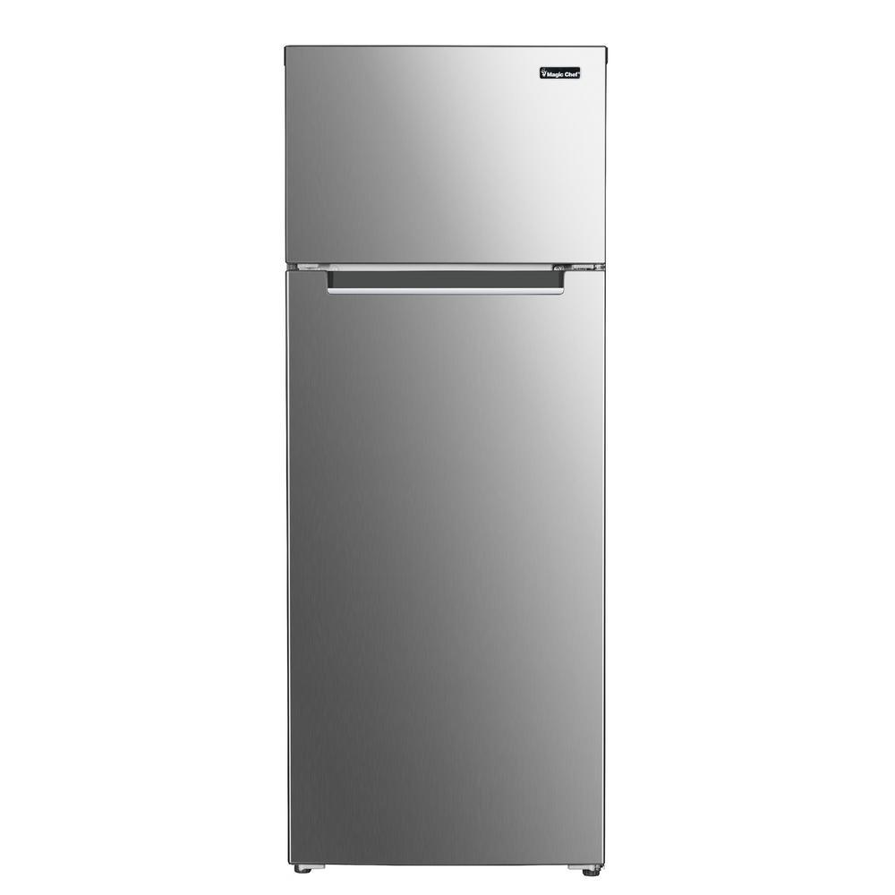 7.4 cu. ft. 2-Door Mini Fridge in Platinum Steel with Freezer