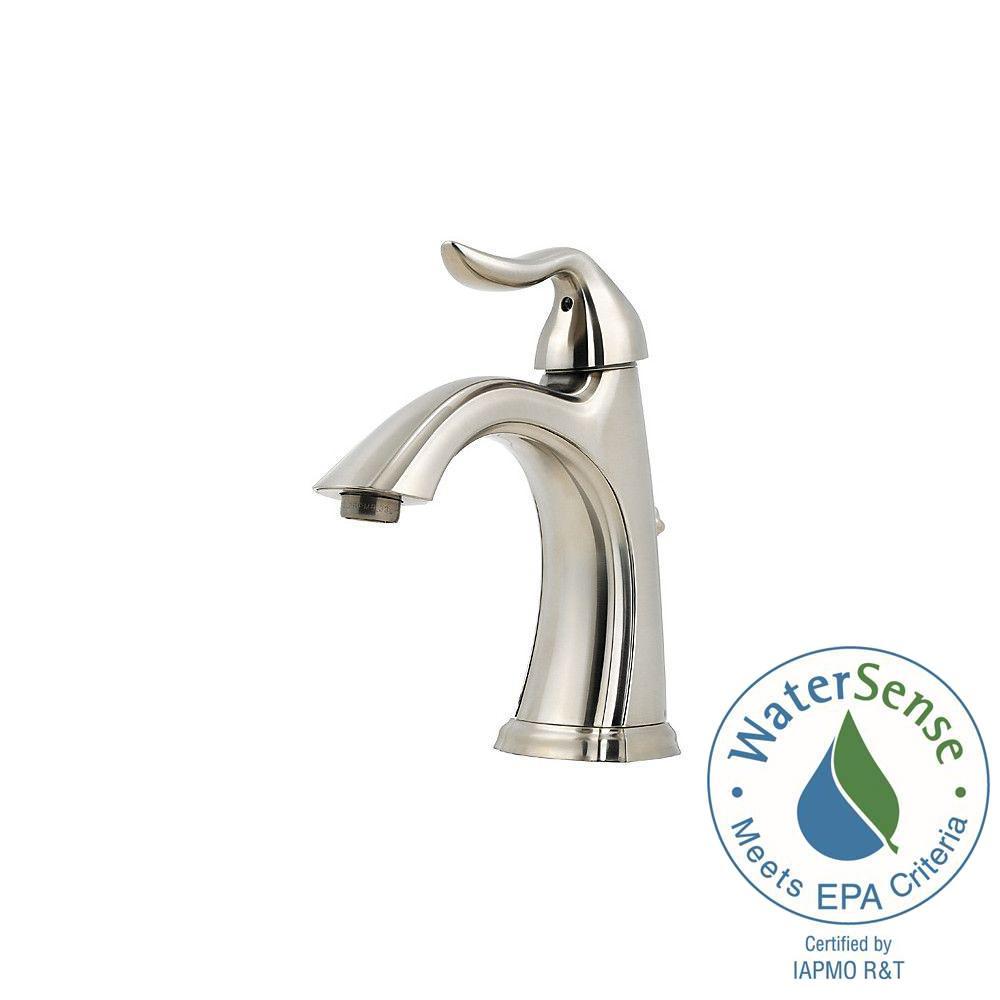Centerset Single Handle Bathroom Faucet In Brushed Nickel