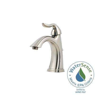 Santiago 4 in. Centerset Single-Handle Bathroom Faucet in Brushed Nickel