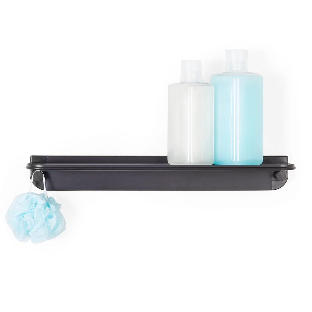 Aluminum Glide Shower Shelf in Black
