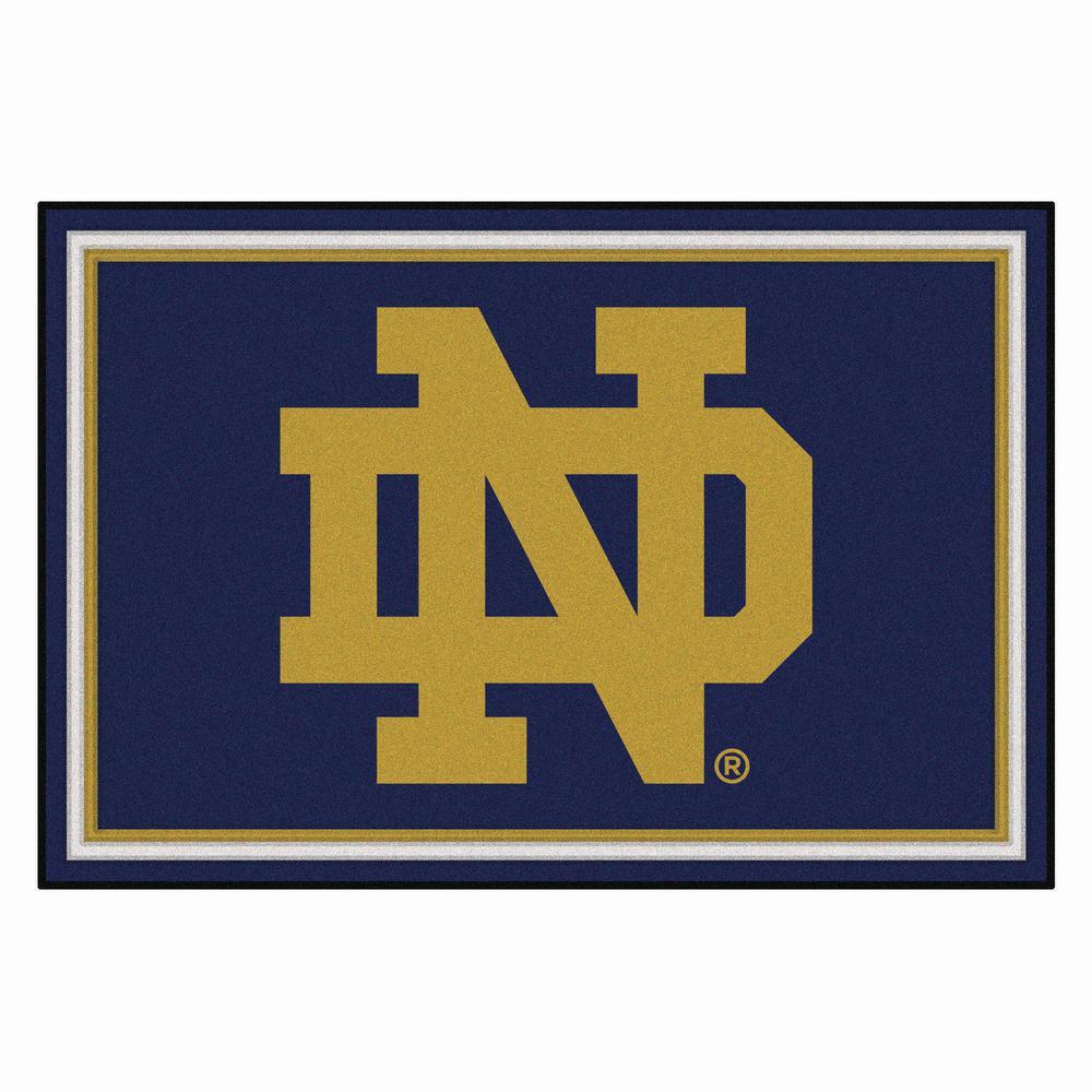 Notre Dame University 5 Ft X 8 Area Rug