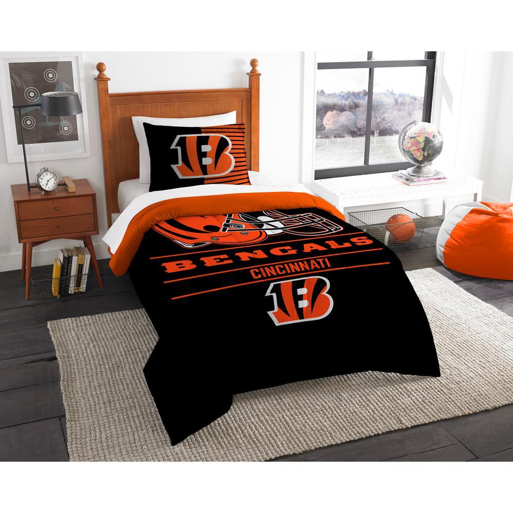 Piece Draft Multi Twin Comforter Set, Bengals Queen Bedding