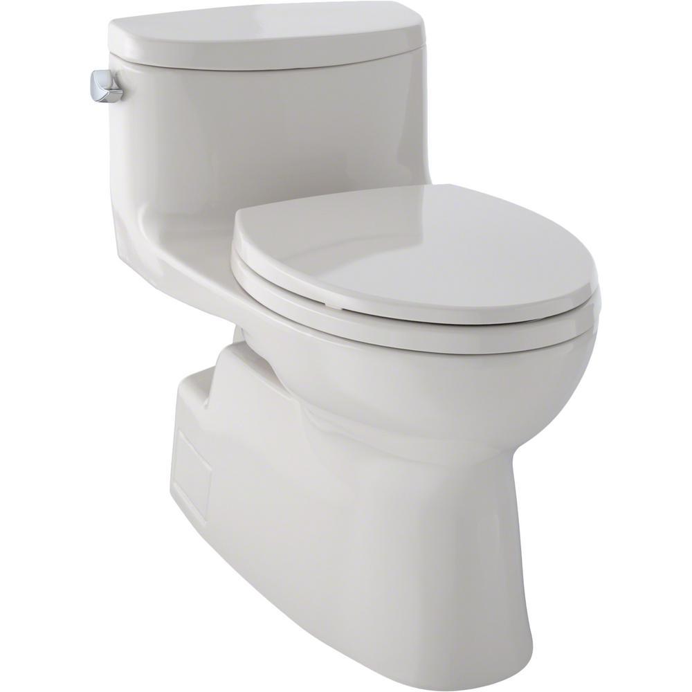 Carolina II 1-Piece 1.28 GPF Single Flush Elongated Skirted Toilet with CeFiONtect in Sedona Beige