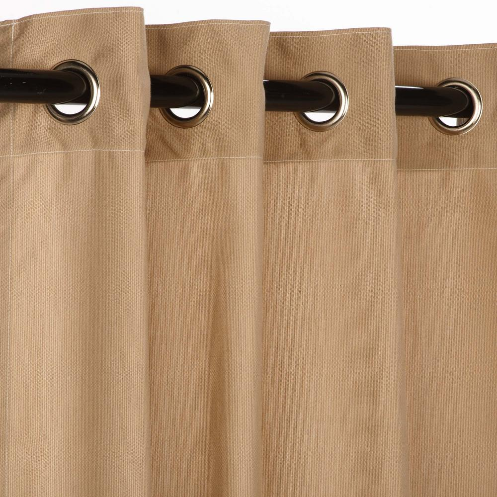 50 in. x 108 in. Outdoor Single Curtain with Nickel Grommets