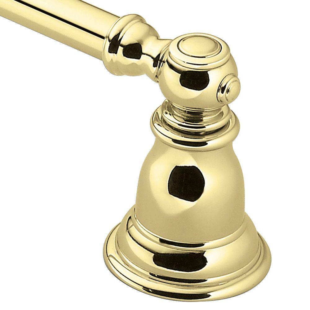 Kingsley 18 in. Towel Bar in Polished Brass