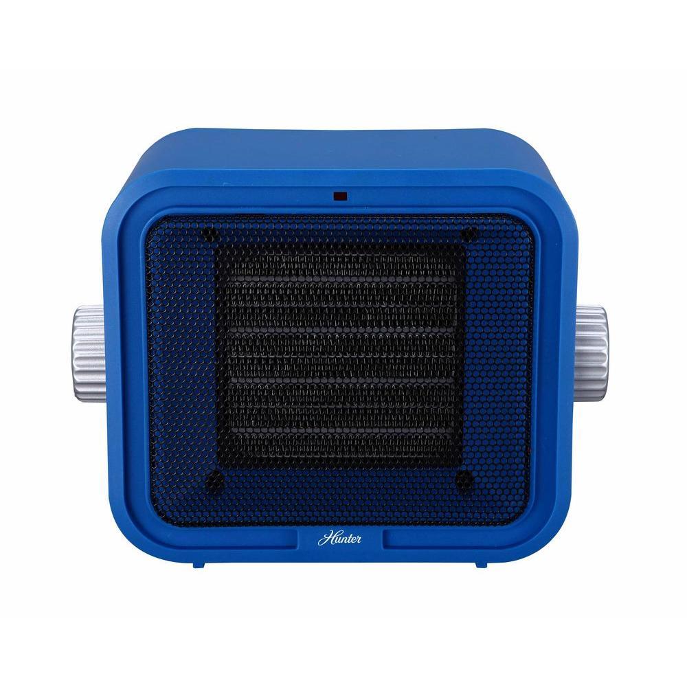 1500-Watt Ceramic Retro Electric Portable Heater - Blue