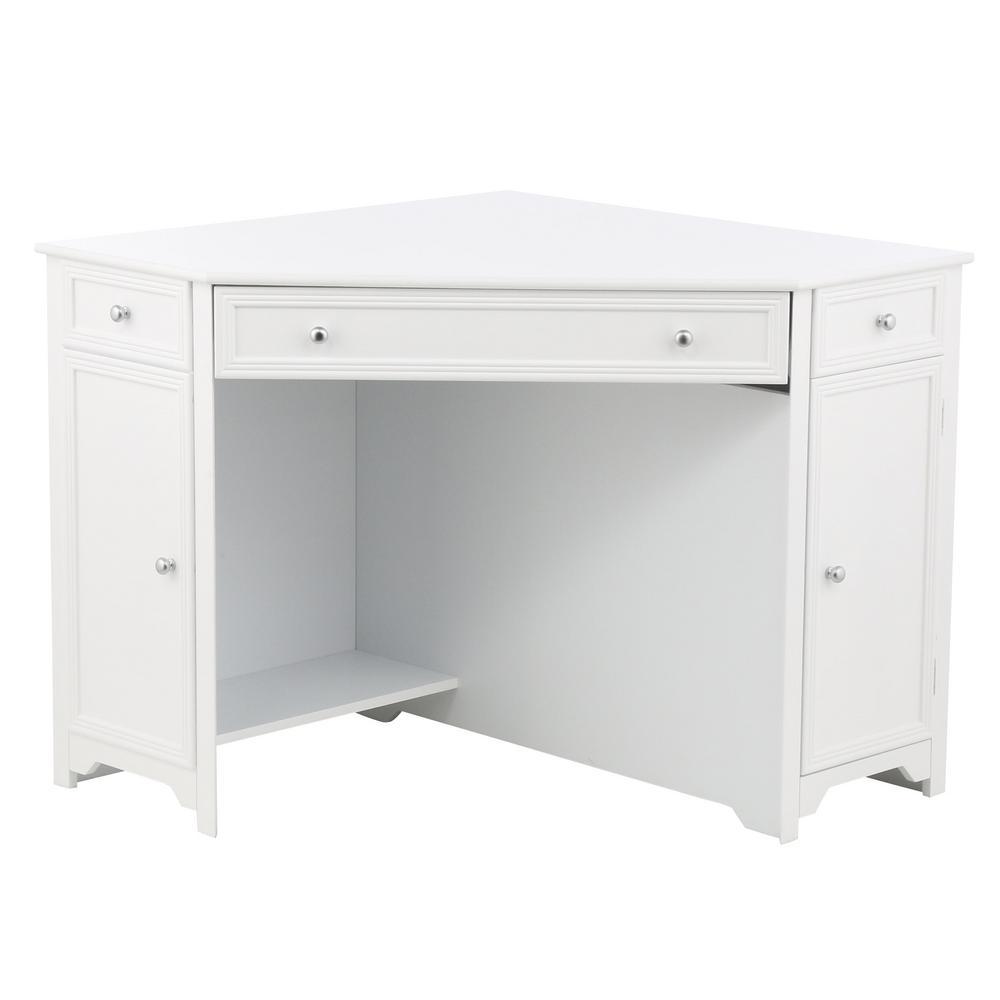 Oxford White 50 in. W Corner Computer Desk