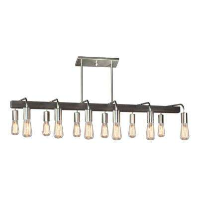 12-Light Brushed Nickel Billiard Light
